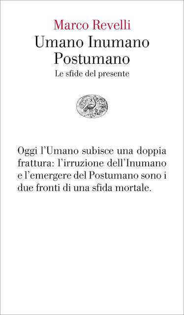 Copertina del libro-Umano Inumano Postumano-Marco Revelli