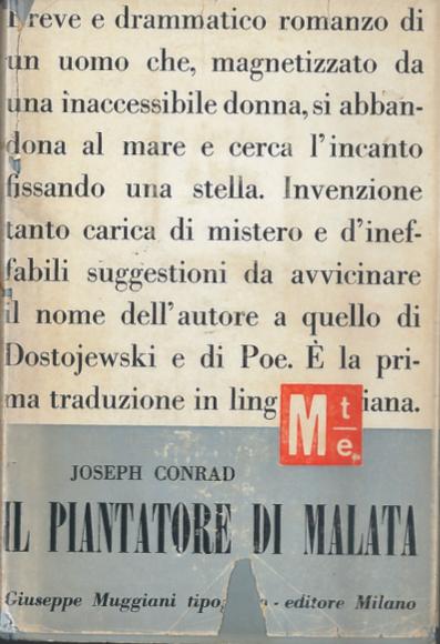 copertina libro-il piantatore di malata-conrad joseph- eli libreria indipendente
